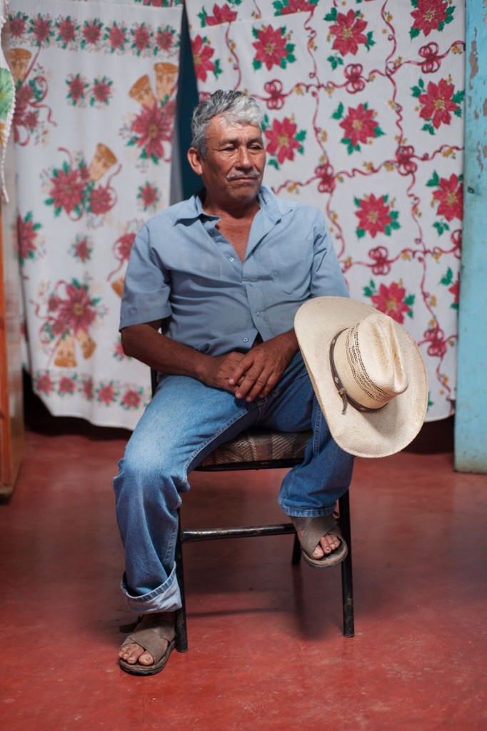 Forty-three male students from the Raul Burgos Rural Teachers College in Ayotzinapa, Guerrero were disappeared on September 26, 2014 at the hands of local police working in conjunction with drug traffickers. Margarito Guerrero, father of Jhosivani Guerrero de la Cruz, one of the 43 missing normal school students, sits in the living room of his house in Omeapa, Guerrero.