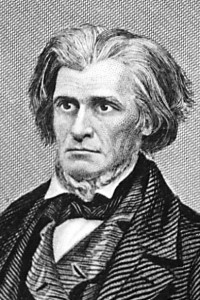 American statesman John Caldwell Calhoun (1782 - 1850), a vice-president under John Quincy Adams and Andrew Jackson and a defender of states rights and slavery.    (Photo by Hulton Archive/Getty Images)