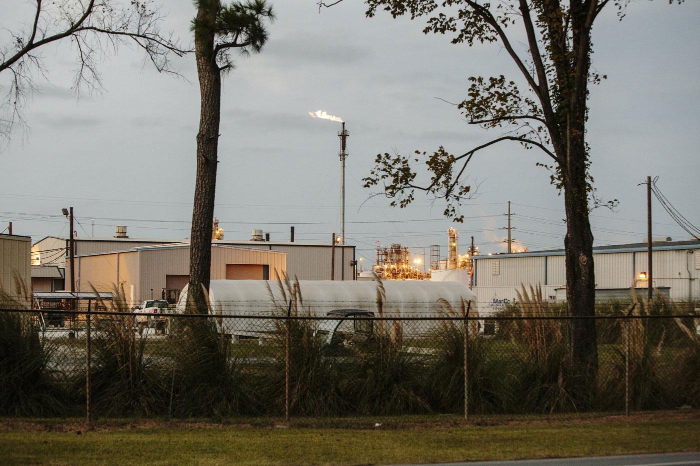 A gas flare inside the Sasol plant, Oct. 22, 2015, Westlake, La.