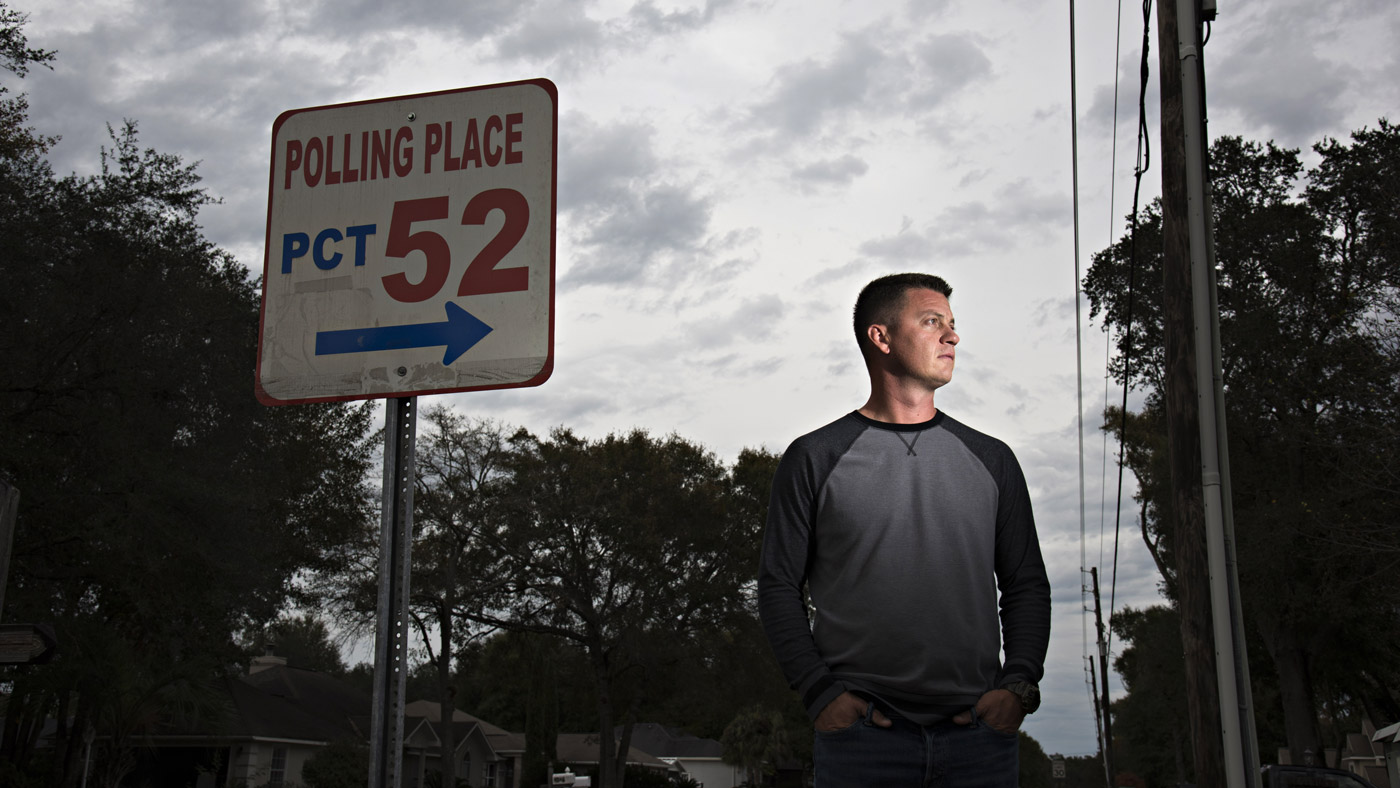 CRESTVIEW, FL - DECEMBER 2, 2015:  Sam Nimmo, 38,  of Crestview, Fla. has been trying to get his rights restored for almost 20 years. With a felony record in the state of Florida, Nimmo has lost his right to vote. (Photo by Melissa Lyttle for The Intercept)