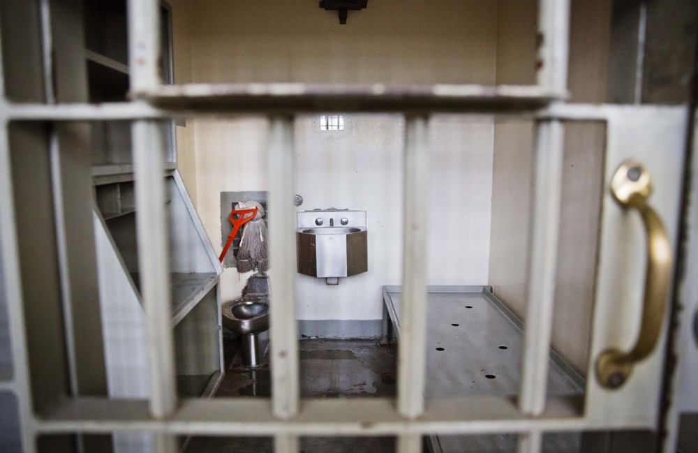A cell sits empty on death row at the Georgia Diagnostic and Classification Prison, Tuesday, Dec. 1, 2015, in Jackson, Ga. Once a judge signs an execution order, the warden meets with the inmate to read him the order, give him a copy and ask if he has any questions. The inmate doesn't return to death row but instead is held in the prison's medical area under 24-hour watch by two guards for the roughly two weeks until his execution date. (AP Photo/David Goldman)