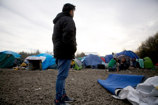 "Gaber (second name unknown) is seen at the refugee camp at Dunkirk, France, 03 December 2015. This camp is less well known that there infamous ""Jungle"" in Calais, but conditions are deteriorating just as rapidly in this camp of mostly Iraqi Kurds. (John D McHugh/Verifeye Media)"