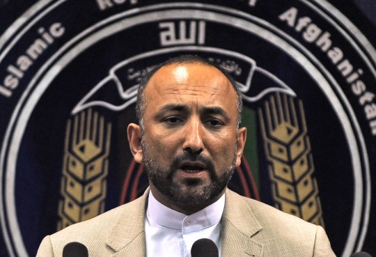 Afghanistan's interior minister Hanif Atmar speaks during a press conference at the interior ministry in Kabul on June 6, 2010. Afghanistan's interior minister and secret service chief resigned after security failings at a