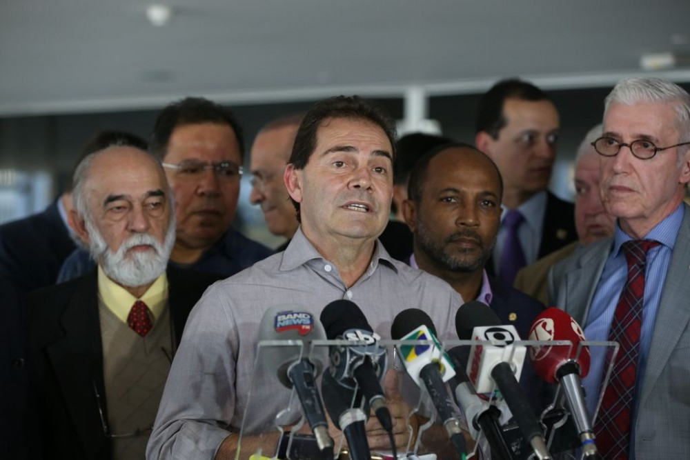 Brasília - Deputado Paulo Pereira da Silva, o Paulinho da Força fala à imprensa no Palácio do Planalto após segunda rodada de reuniões do governo com representantes de centrais sindicais (Valter Campanato/Agência Brasil)