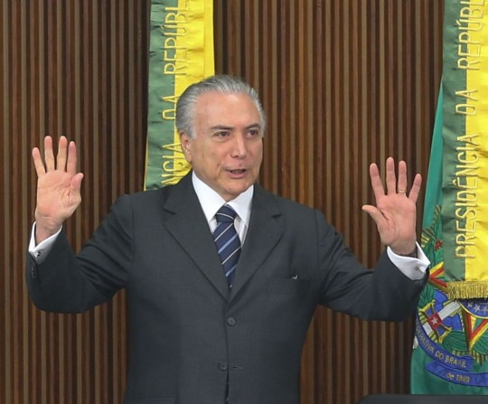 O presidente interino Michel Temer,  recebe presidentes dos Tribunais de Contas do Brasil (Antônio Cruz/Agência Barsil)
