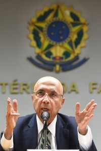New Brazilian Finance Minister Henrique Meirelles speaks during a press conference to announce the names of the new members of the government's economic team in Brasilia on May 17, 2016.<br /><br /><br /><br /><br /><br /><br /> Meirelles named Ilan Goldfajn for the Central Bank, Marcelo Caetano for the Department of Welfare, Mansueto Almeida Junior as Secretary of Economic Monitoring and Carlos Hamilton as Secretary of Economic Policy. / AFP / EVARISTO SA        (Photo credit should read EVARISTO SA/AFP/Getty Images)