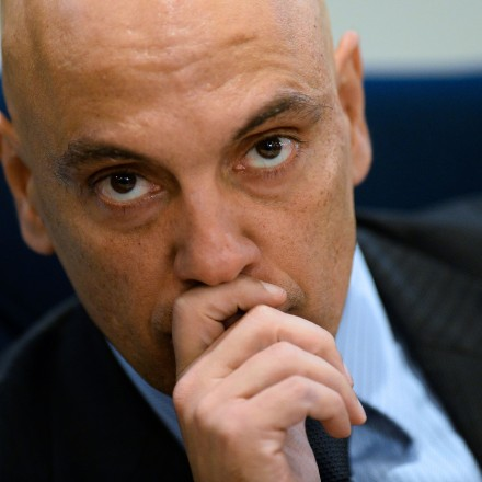"""Brazilian Justice Minister Alexandre de Moraes attends the inauguratioon ceremony of International Police Cooperation Center (CCPI) in Brasilia, on August 1, 2016.<br /><br /><br /><br /><br /><br /><br /> The centre will work during the Olympic and Paralympic Games in Rio de Janeiro, which will take place from August 5-21 and September 7-18 respectively..  / AFP / ANDRESSA ANHOLETE        (Photo credit should read ANDRESSA ANHOLETE/AFP/Getty Images)"""" /></a></p> <p class="""