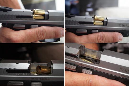 Falhas de ejeção e alimentação observadas pela Polícia Civil do Rio de Janeiro na pistola PT 840 P