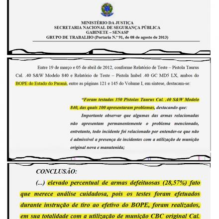 Relatório do Ministério da Justiça