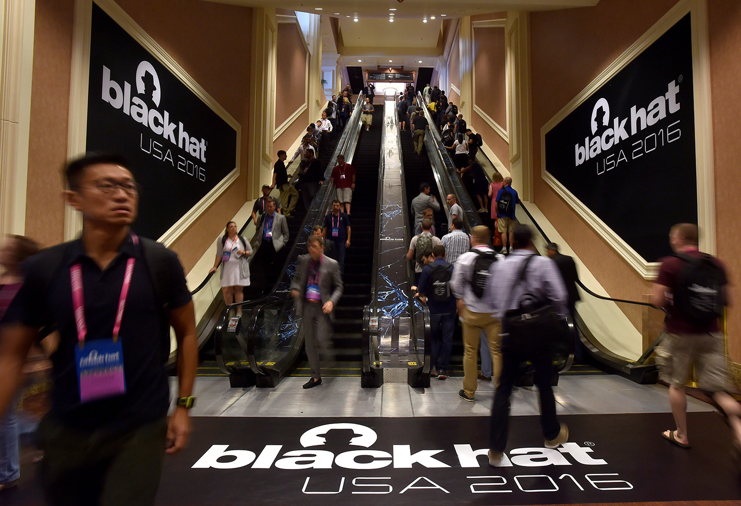 August 3, 2016 - Las Vegas, NV, UNITED STATES - Attendees arrive at the 2016 Black Hat cyber-security conference in Las Vegas, Nevada, U.S. August 3, 2016  (Credit Image: © David Becker/Reuters via ZUMA Press)