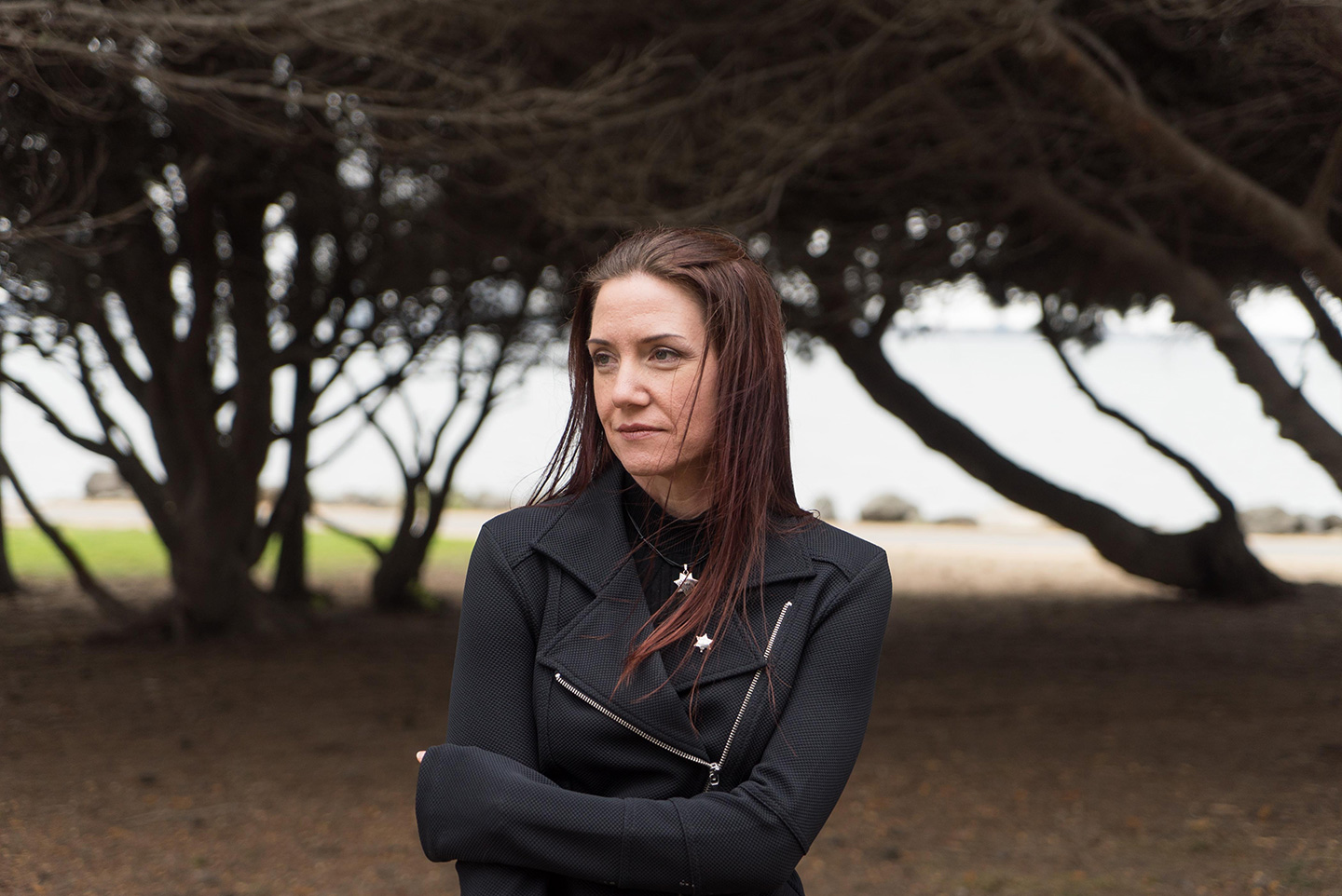 Dionne Wilson poses for a photograph at the Berkeley Marina in Berkeley, Calif. on Sunday, Sept. 11, 2016. Wilson is the widow of a San Leandro policeman who was shot to death by Irving Ramirez in 2007. Since Ramirez was sentenced to death, she's changed her view on the death penalty and now supports Proposition 62 which would abolish it.