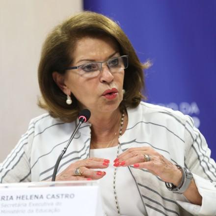 Brasília - A secretária executiva do MEC, Maria Helena Guimarães de Castro, durante divulgação dos resultados, por escola, do Exame Nacional do Ensino Médio (Enem) 2015 (Elza Fiuza/Agência Brasil)