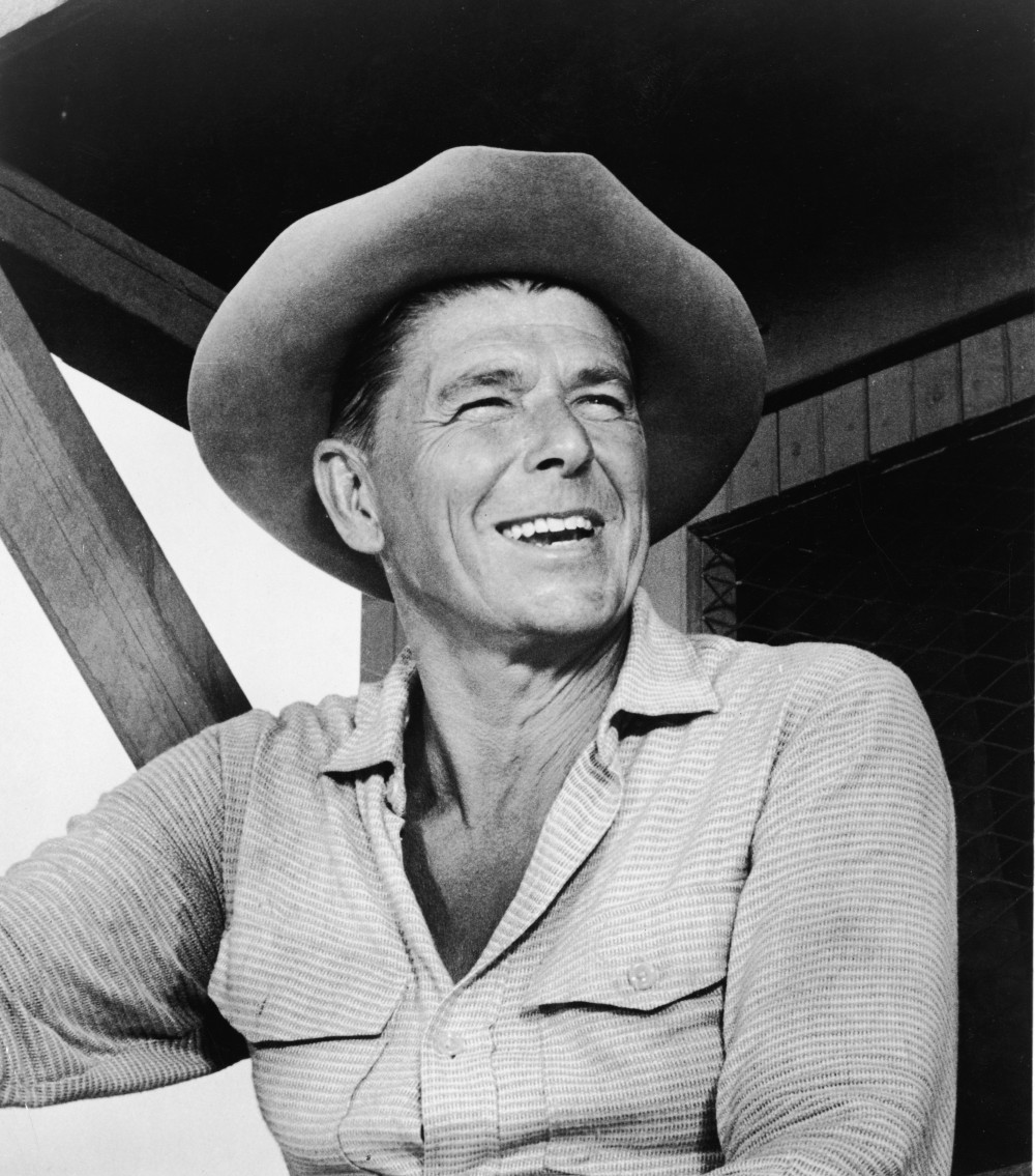 American actor and politician Ronald Reagan in a scene from the 'Temporary Warden' episode of the 'Death Valley Days' television series, September 30, 1965. (Photo by Warner Bros./Courtesy of Getty Images)