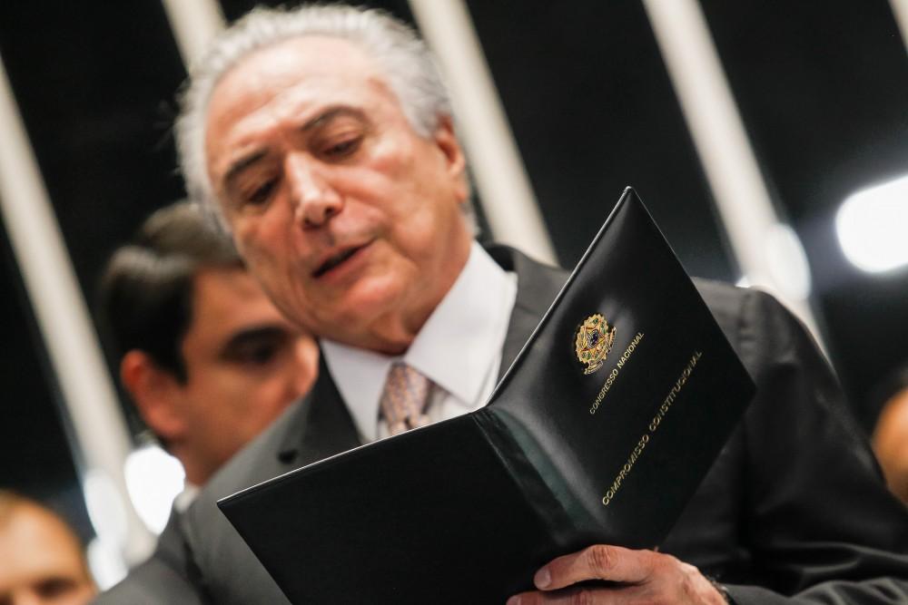 Presidente Michel Temer durante sua posse no Senado Federal.(Brasília - DF, 31/08/2016)Foto: Beto Barata/PR