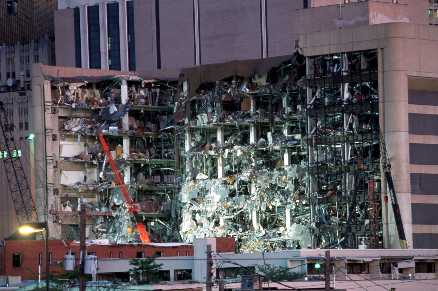 Terrorist Bomb Attack on Oklahoma Building (Photo by Robert Daemmrich Photography Inc/Sygma via Getty Images)