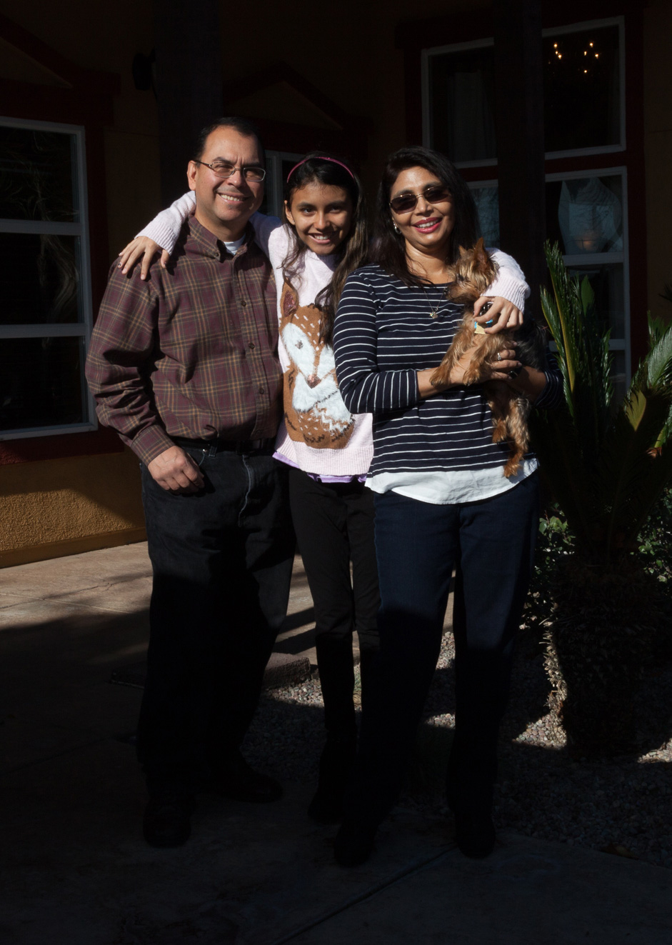 The Galindo family at home in Modesto, Calif.  Photo: Shaun Lucas for The Intercept