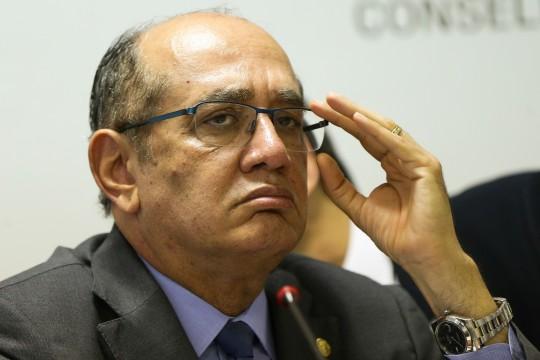 Brasília - O presidente do Tribunal Superior Eleitoral (TSE) e ministro do Supremo Tribunal Federal (STF), Gilmar Mendes, durante o seminário Diálogos sobre a Reforma Política.(Marcelo Camargo/Agência Brasil)