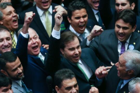 Brasília - O deputado Rodrigo Maia é reeleito para a presidência da Câmara dos Deputados (Fábio rodrigues Pozzebom/Agência Brasil)