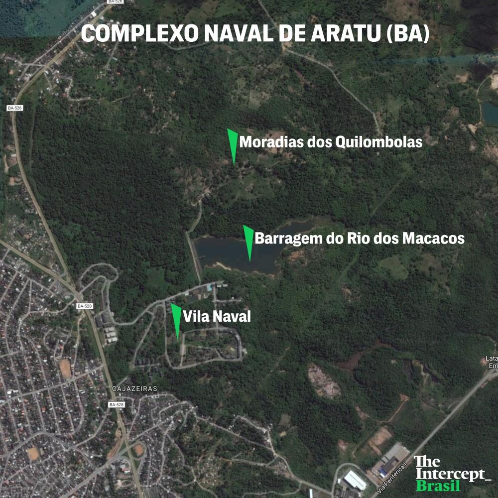 Mapa Complexo Naval de Aratu (BA)