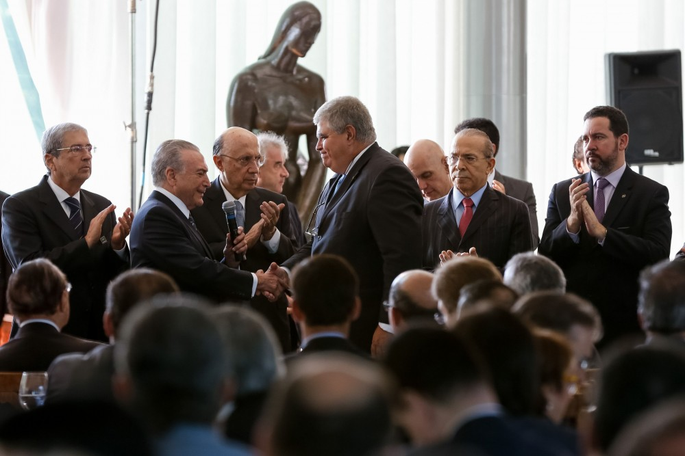 Brasília - Presidente Michel Temer, discute reforma da previdência durante café da manhã, com deputados e senadores da base aliada ( Marcos Corrêa/PR)