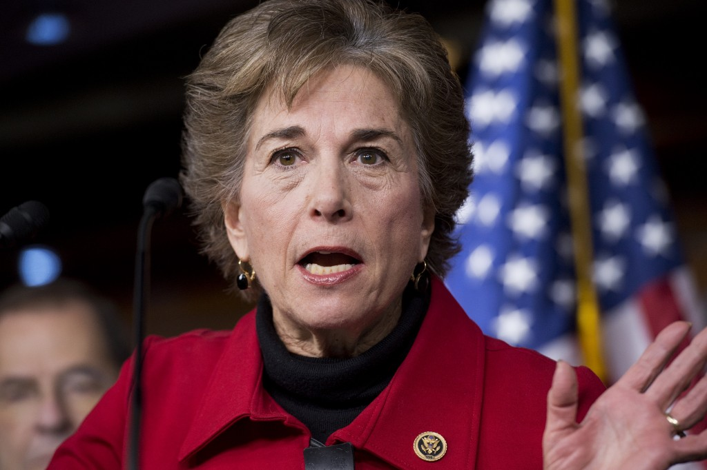 Rep. Jan Schakowsky, attends a news conference in the Capitol Visitor Center on Jan. 6, 2016.