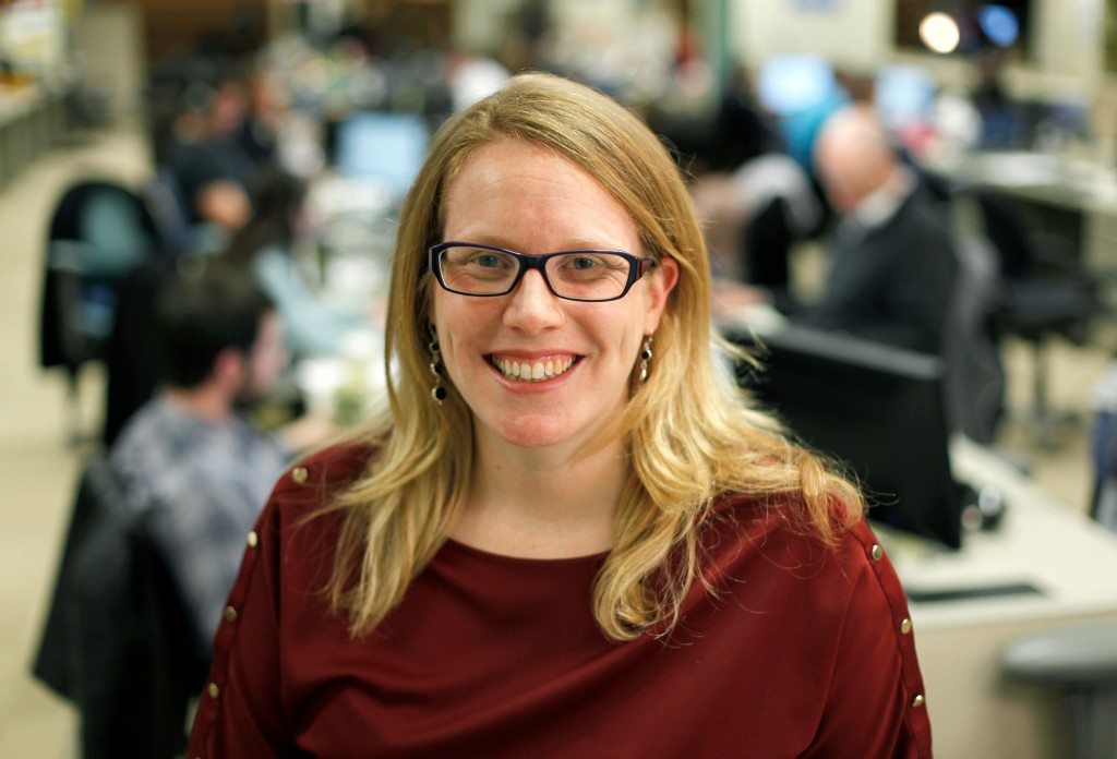 In this photo taken Wednesday, Dec. 28, 2011 is Obama 2012 deputy campaign manager Jennifer O'Malley Dillon, at the Chicago headquarters. (AP Photo/Charles Rex Arbogast)