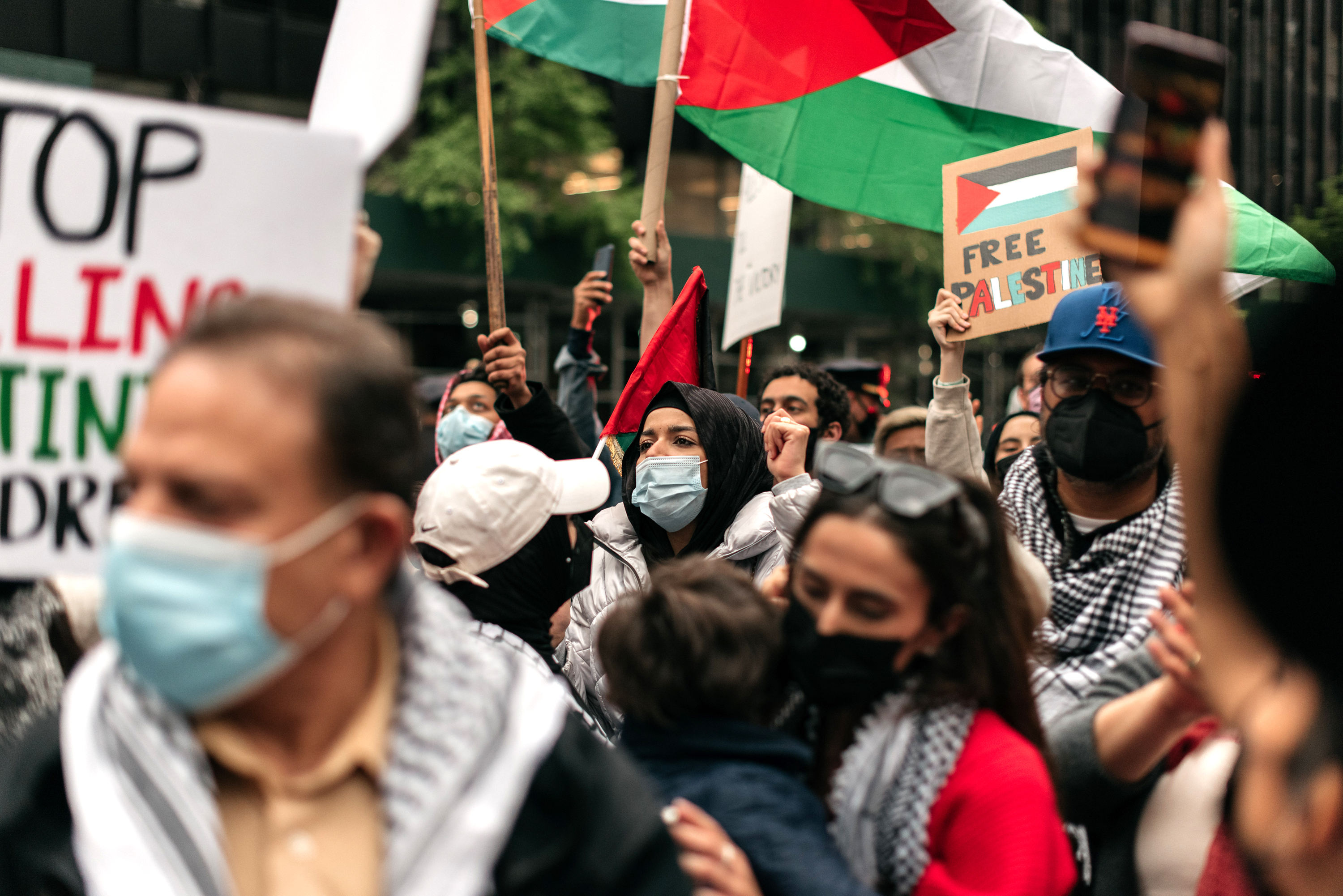 Rally Held Outside Israeli Consulate In NYC In Support Of Palestinians